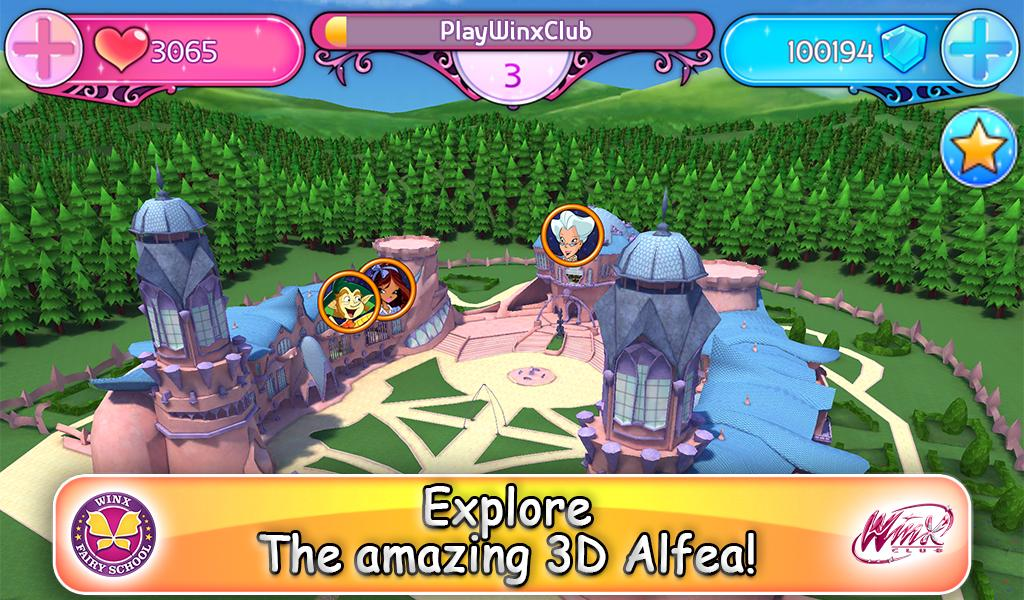 Winx Fairy School Lite screenshot 2