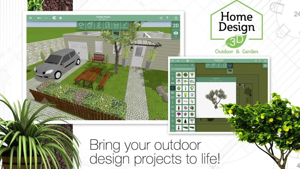 Home design 3d outdoor garden download apk for android for 3d house app