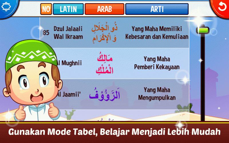 Marbel Asmaul Husna Suara Dan Terjemahan 2 0 8 Android Apk Sini Indir Aptoide