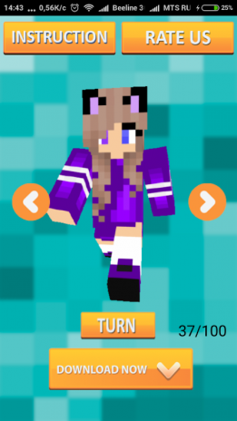 Kawaii Skins For Minecraft Download APK For Android Aptoide - Skin para minecraft pe kawaii