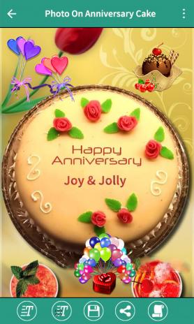 Anniversary Cake Photo Frame