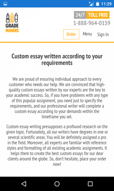 Research writing service for android