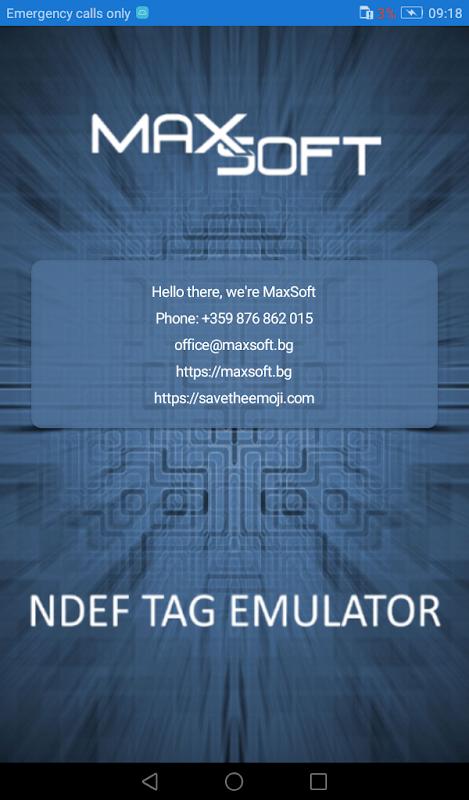 NFC NDEF Tag Emulator screenshot 2