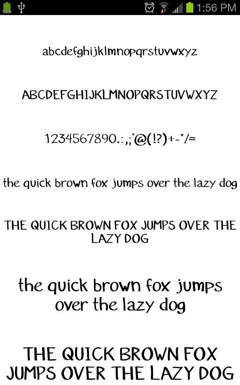 Pencil Fontes FlipFont gratis screenshot 1