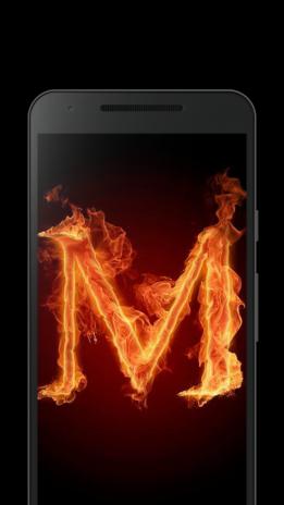 Fiery letter M live wallpaper 1.0