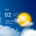 Transparent clock & weather forecast