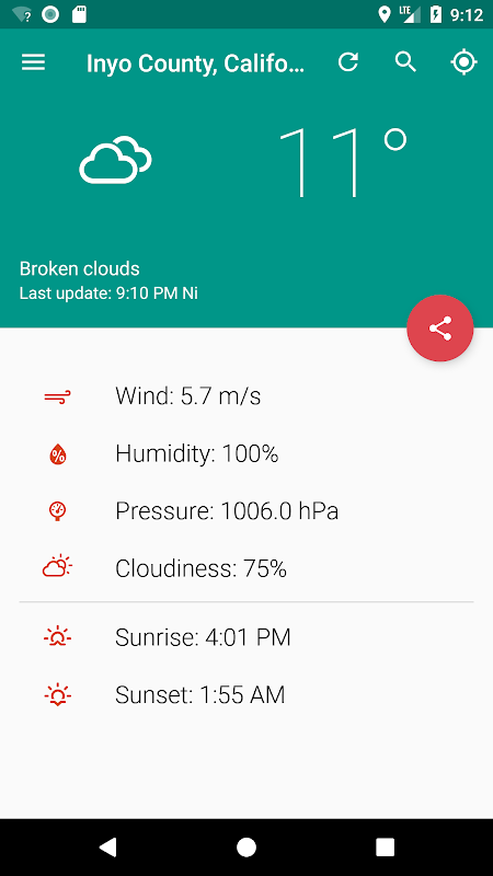 Your local weather screenshot 2
