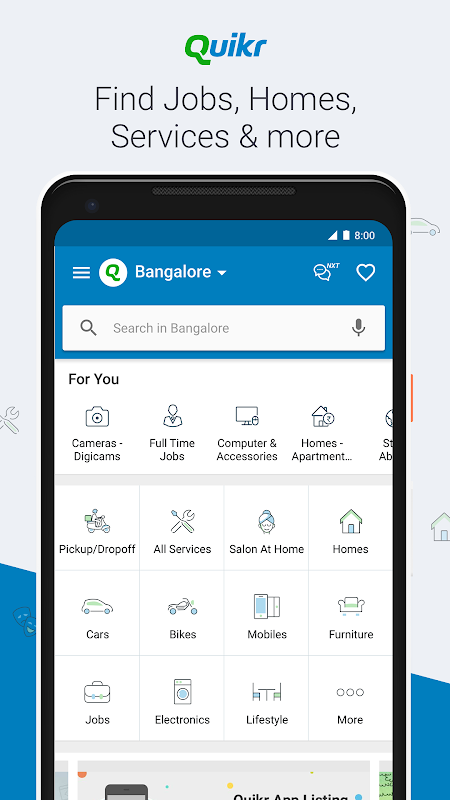 Quikr – Search Jobs, Mobiles, Cars, Home Services 10 44 Download APK