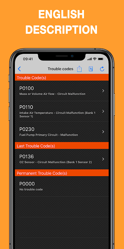 EOBD Facile - OBD 2 Car Diagnostic for elm327 Wifi screenshot 1