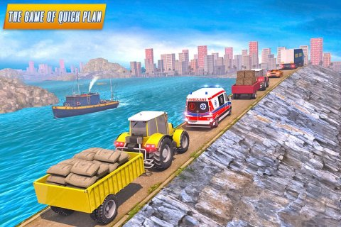 Heavy Tractor Trolley Driver Simulator: Free Games screenshot 7