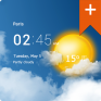 transparent clock weather pro icon