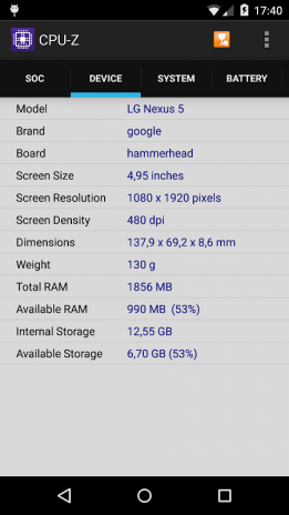 CPU-Z 1 29 Download APK for Android - Aptoide