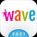 Wave Keyboard Background - Animations, Emojis, GIF
