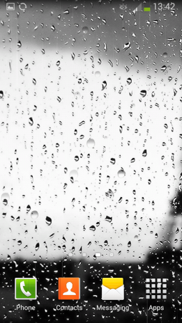 rain on glass live wallpaper screenshot 1 ...