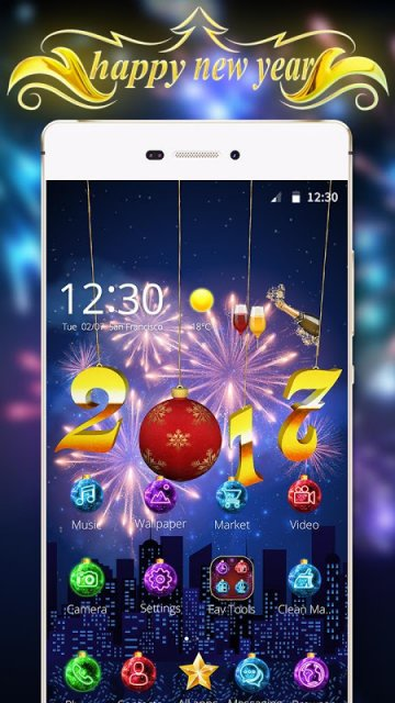 Happy New Year 2017 3D Theme | Download APK for Android ...