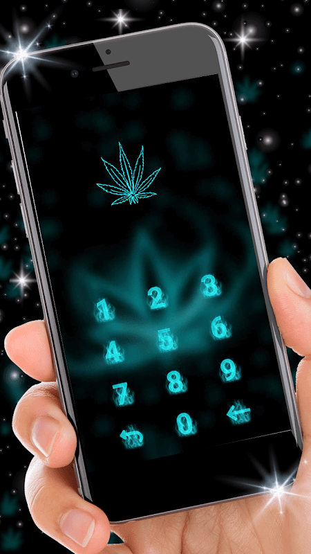 Neon Leafy Weed 3D Live Lock Screen Wallpapers screenshot 2