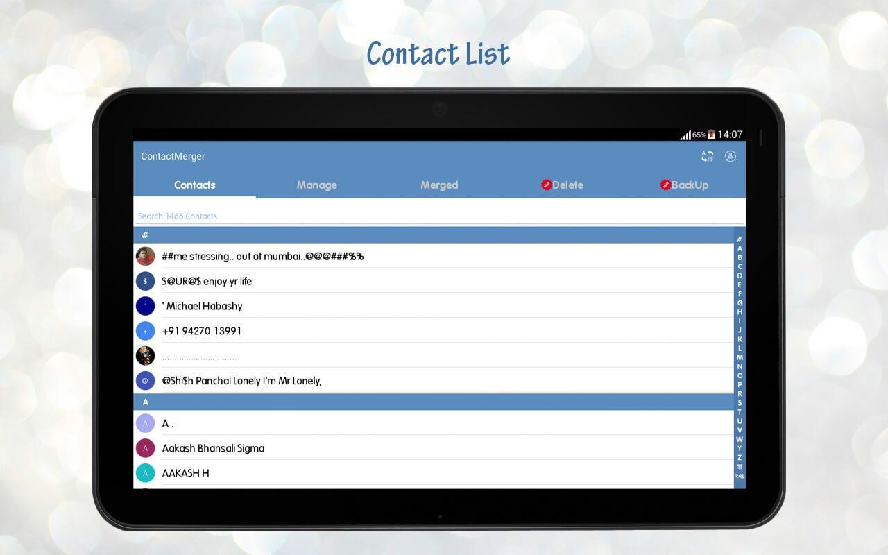Contact Merger screenshot 2