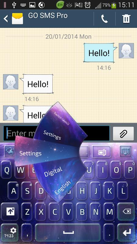 Galaxy Keyboard screenshot 2