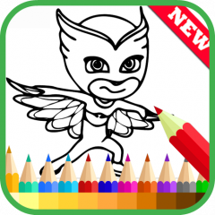 Coloring Book For Pj Mask Fans Icon