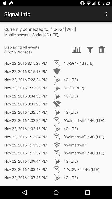 Signal Info screenshot 1