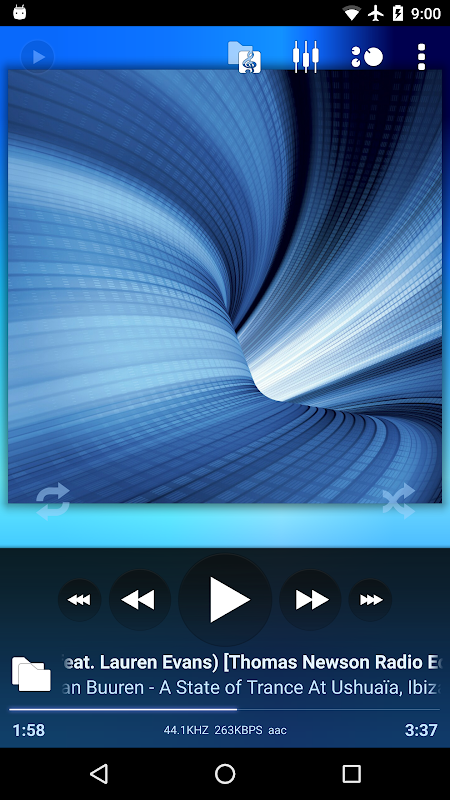 Poweramp screenshot 1