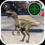 Pocket Jurassic Raptor Blue Catch Dinosaur Icon