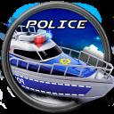 Notfall Polizeiboot Fahrt 3d