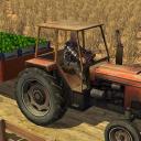 Landtransport Traktorfahrer