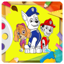 draw coloring paw patrole book