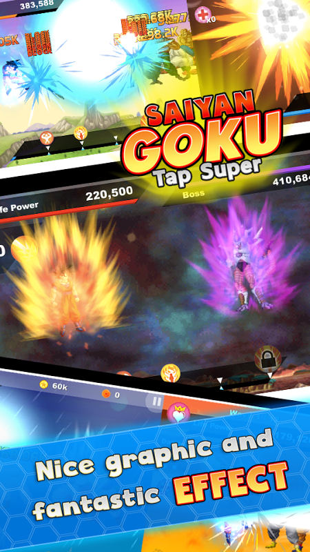 Saiyan Goku Tap Super Z screenshot 1