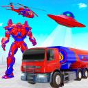 Flying Oil Tanker Robot Truck Transform Robot Game