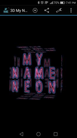 3d My Name Neon Live Wallpaper 2