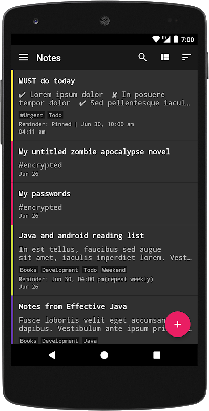 FairNote: Encrypted Notes & Lists screenshot 2