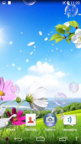 Soap Bubbles Live Wallpaper Screenshot 1