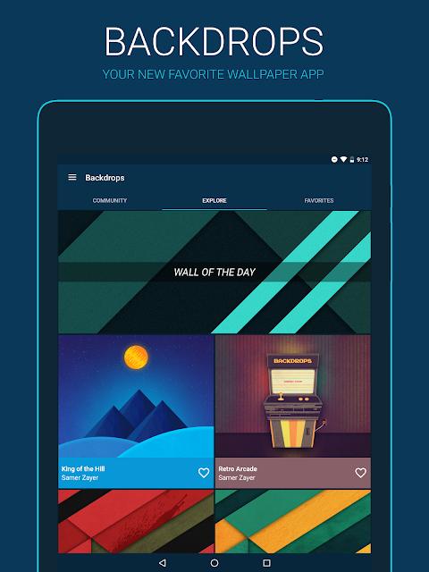 Backdrops - Wallpapers screenshot 1