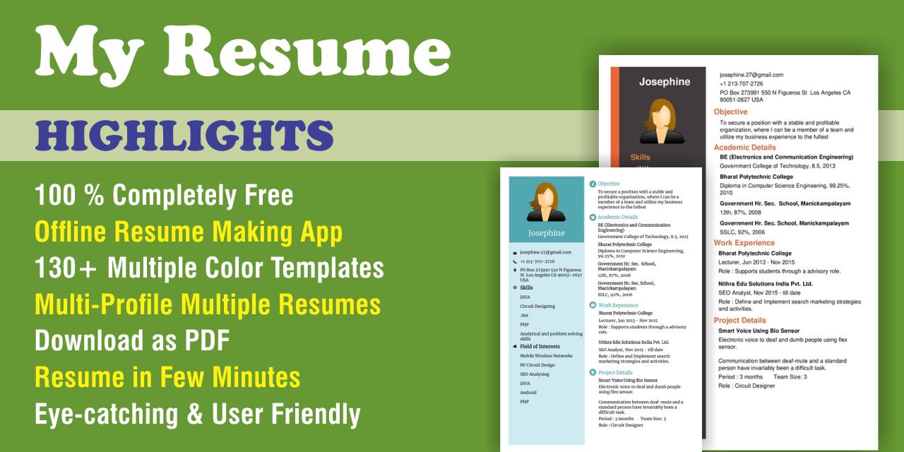Free Cv Maker Resume Builder App 64 Download Apk Para Android Aptoide