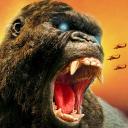 City Dino Rampage Attack: Furious Gorilla