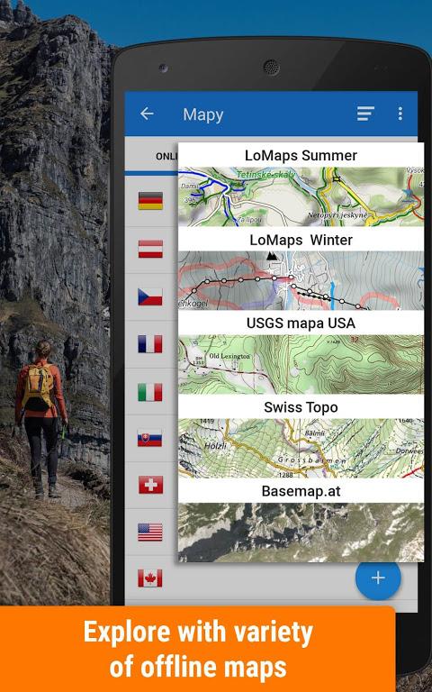 Locus Map Free - Outdoor GPS navigation and maps screenshot 1