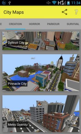 minecraft pe modern city world download