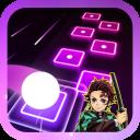 Anime Kimetsu NoYaiba Tiles Hop Magic Games