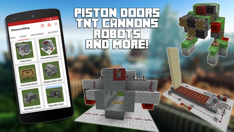Redstone builder for minecraft pe 91 download apk for android aptoide redstone builder for minecraft pe screenshot 3 malvernweather Choice Image