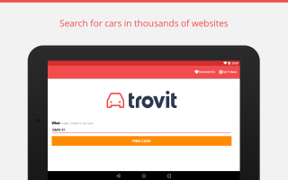 Buy used vehicles - Trovit Screen