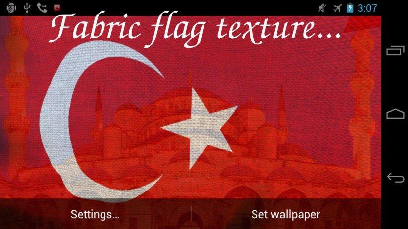 3d Turkey Flag Live Wallpaper Screenshot 8