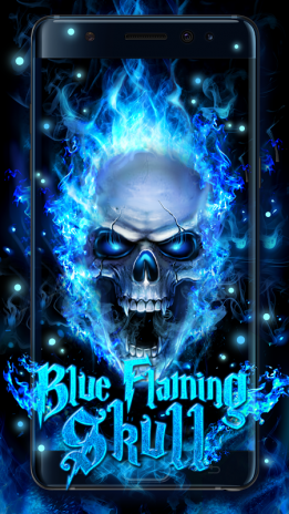 Blue Fire Skull Live Wallpaper 1.1.2