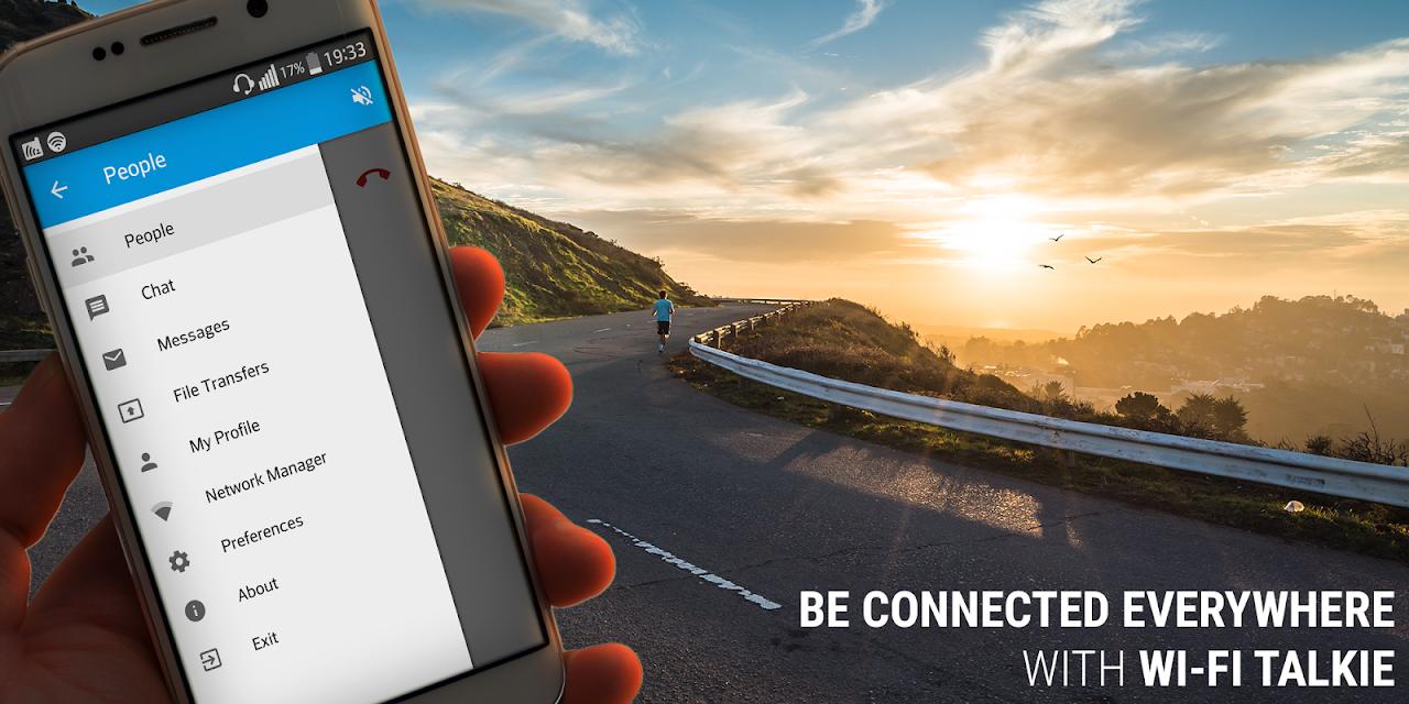 Talkie Pro - Wi-Fi Calling, Chats, File Sharing screenshot 1