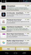 Apps for Sony SmartWatch Screenshot