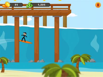 Stickman Surfer screenshot 4