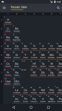 Periodic table 2018 pro 0157 download apk for android aptoide periodic table 2018 pro screenshot 1 urtaz Image collections