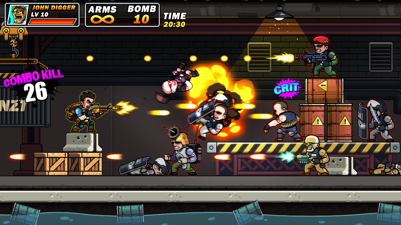 Metal Commando - 2D Platform Squad Metal Shooter screenshot 1