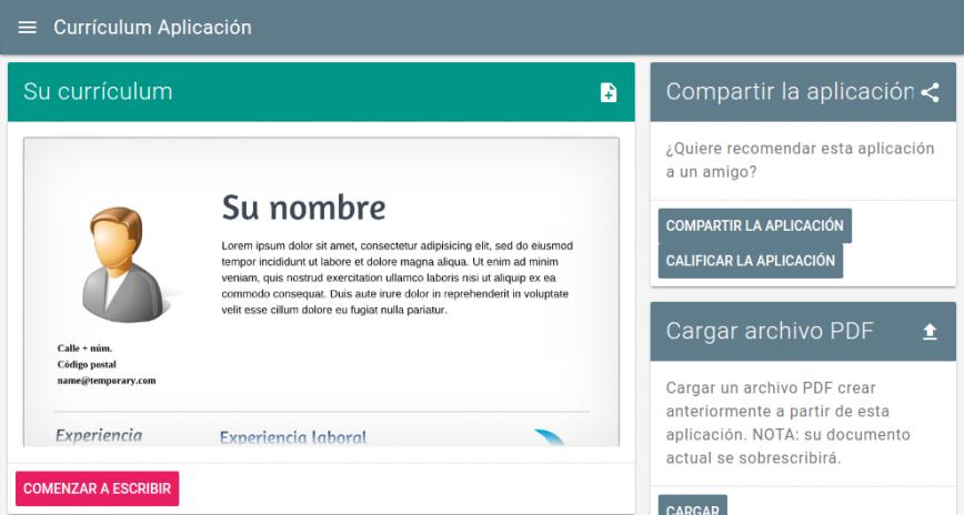 Currículum Aplicación Gratis 180514generic Descargar APK para ...